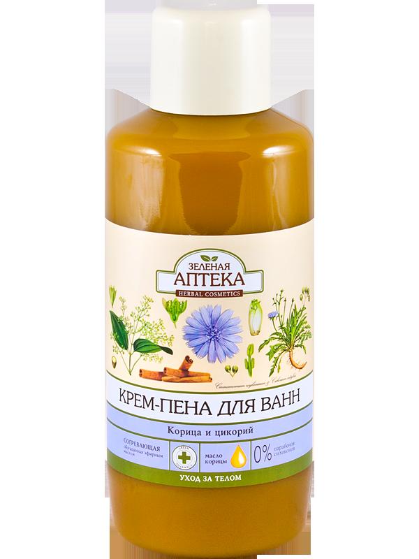 Зеленая Аптека Крем-пена для ванн «Корица и цикорий» 1l.