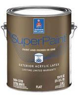 Краска Super Paint Sherwin-Williams глубокоматовая фасадная экстра белая, 3,63л (шервин вильямс супер пэинт)