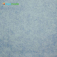 Фетр американский СЕРО-ГОЛУБОЙ меланж, 15x23 см, 1.3 мм, полушерстяной мягкий, фото 1