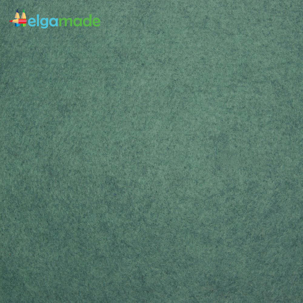 Фетр американский ЖУРЧАЩИЙ РУЧЕЙ меланж, 15x23 см, 1.3 мм, полушерстяной мягкий