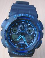 Реплика Casio(Касио) G-Shock GA100 черные с синим, фото 1