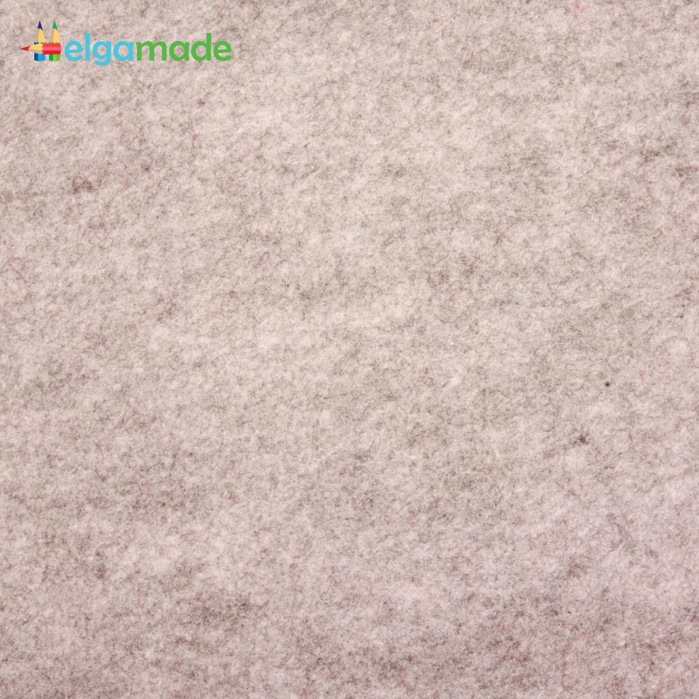 Фетр американский ДРЕВЕСНЫЙ меланж, 15x23 см, 1.3 мм, полушерстяной мягкий