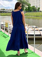 Длинная юбка больших размеров из прошвы, фото 3