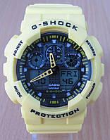 Часы Casio(Касио) G-Shock GA100 желтые