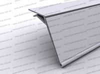 Ценникодержатель для стеклянных полок, 1000 мм прозрачный, ценовая планка, держатель ценника, пластиковый ценн
