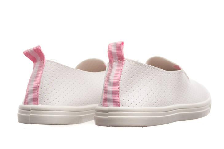 Слипоны женские Collection white-pink 37, фото 2