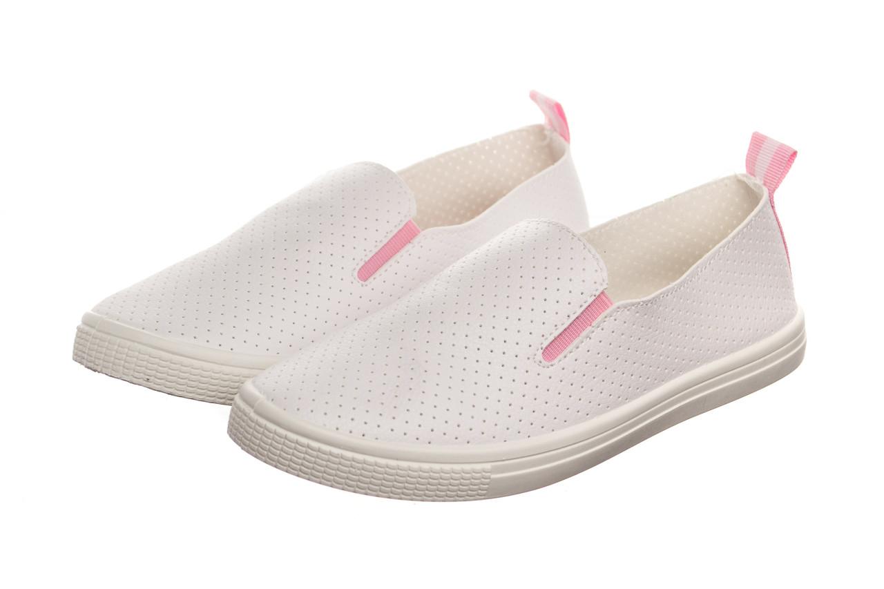 Слипоны женские Collection white-pink 37