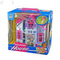 Домик для кукол F611 раскладной с фигурками и мебелью KK HN