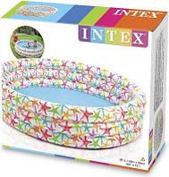 Бассейн детский надувной Цветочный Intex