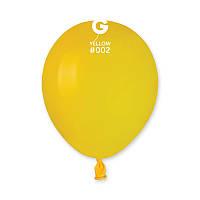 Воздушные шарики5' пастель Gemar A50-02 Желтый, (13 см) 100 шт