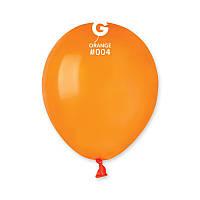 Воздушные шарики Gemar А50-04 пастель Оранжевый, 5' (13 см) 100 шт