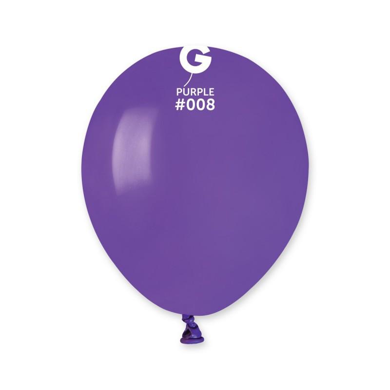 Воздушные шарики Gemar А50 пастель Фиолетовый, 5' (13 см) 100 шт