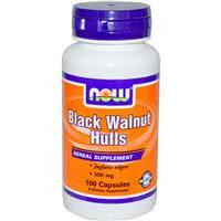 Черный орех 100 капс 500 мг противопаразитарный препарат от глистов (остриц аскарид) от лямблий  Now Foods