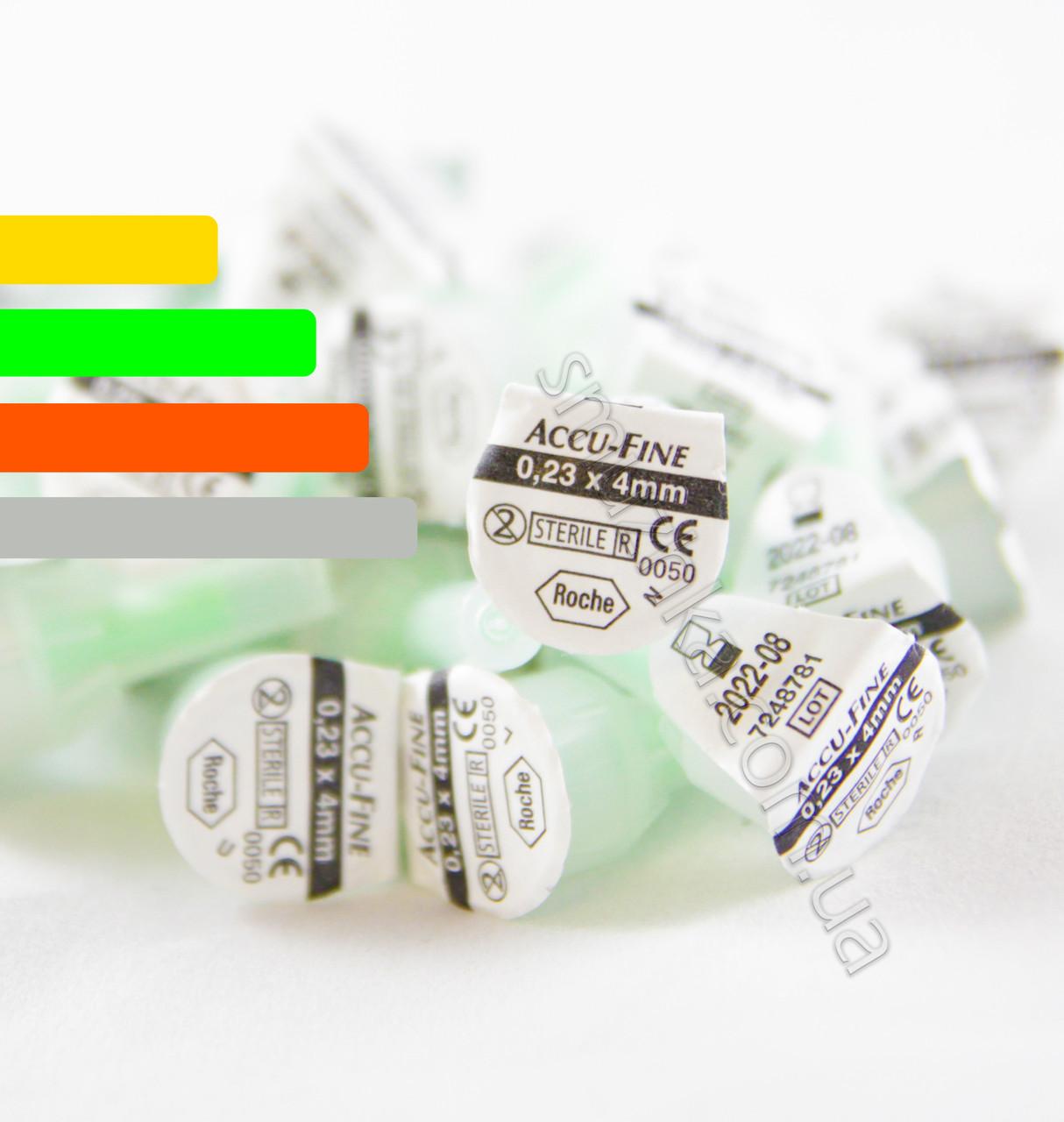 Поштучно иглы Акку-файн Accu-Fine 4mm 32G  для инсулиновых ручек
