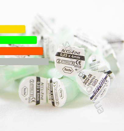 Поштучно иглы Акку-файн Accu-Fine 4mm 32G  для инсулиновых ручек, фото 2