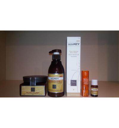 Набор для керапластики: ампула кератина 12 мл., шампунь 300 мл., маска 300 мл. спрей-блеск 300 мл масло ши 10