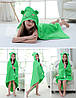 Полотенце для детей с капюшоном зеленый мишка, фото 2