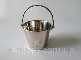 Ведро нержавеющее для льда 12 х 10 cm 0,800 ml