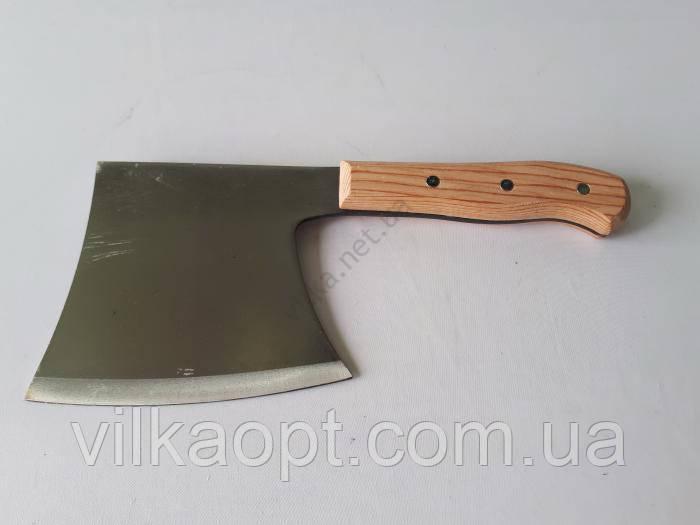 Нож секач нержавеющий с деревянной ручкой 29 х 13 см.