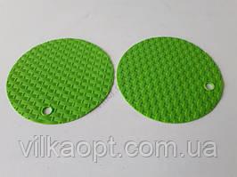 """Подставка силиконовая коврик под горячее Салфетка для чашки и тарелки в наборе 2 штуки """"Круг"""" d 15 cm."""