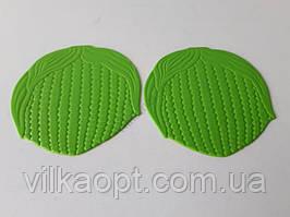 """Подставка силиконовая коврик под горячее Салфетка для чашки и тарелки в наборе 2 штуки """"Круг"""" d 16 cm."""