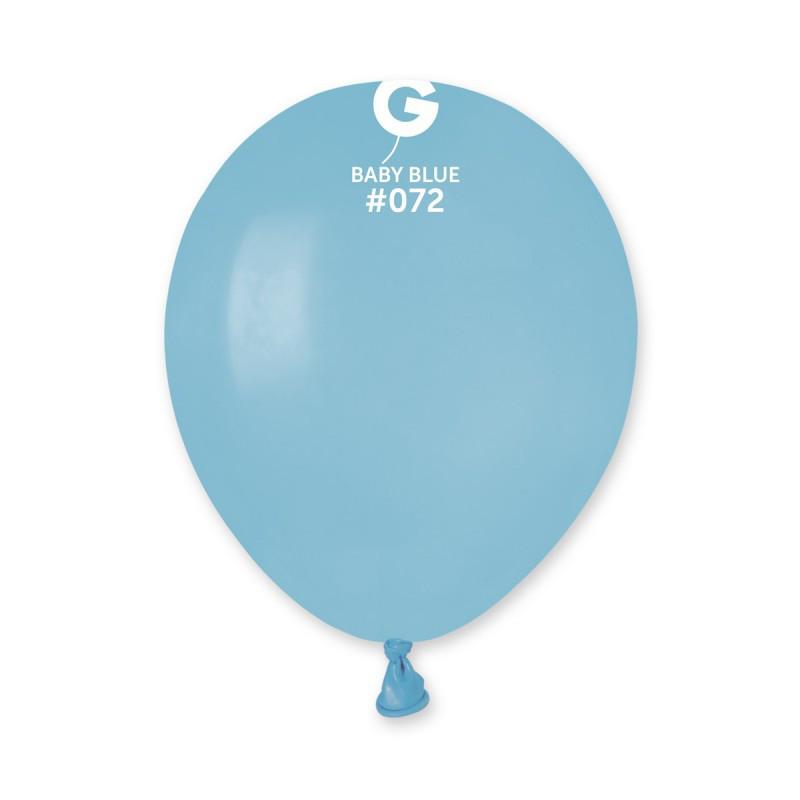 """Надувной шар 5"""" пастель Gemar A50-72 голубой матовый (13см) 100 шт"""