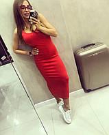 Красное платье- майка ТМ Doratti