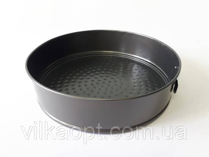 Форма тефлоновая черная разъёмная d 26 cm, h 7 cm