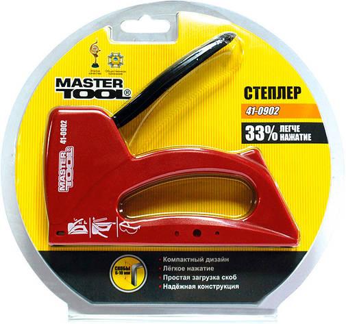 Степлер для скоб 6-10мм MasterTool 41-0902 , фото 2