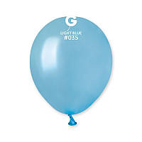 Воздушные шарики 5' металлик Gemar AM50-35 светло-голубой (13 см) 100 шт