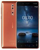 Смартфон Nokia 8 Dual SIM Cooper 4/64gb Qualcomm Snapdragon 835 3090 мАч