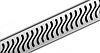 """Решетка для душевого канала ACO E-line """"Флаг"""" 1000мм"""