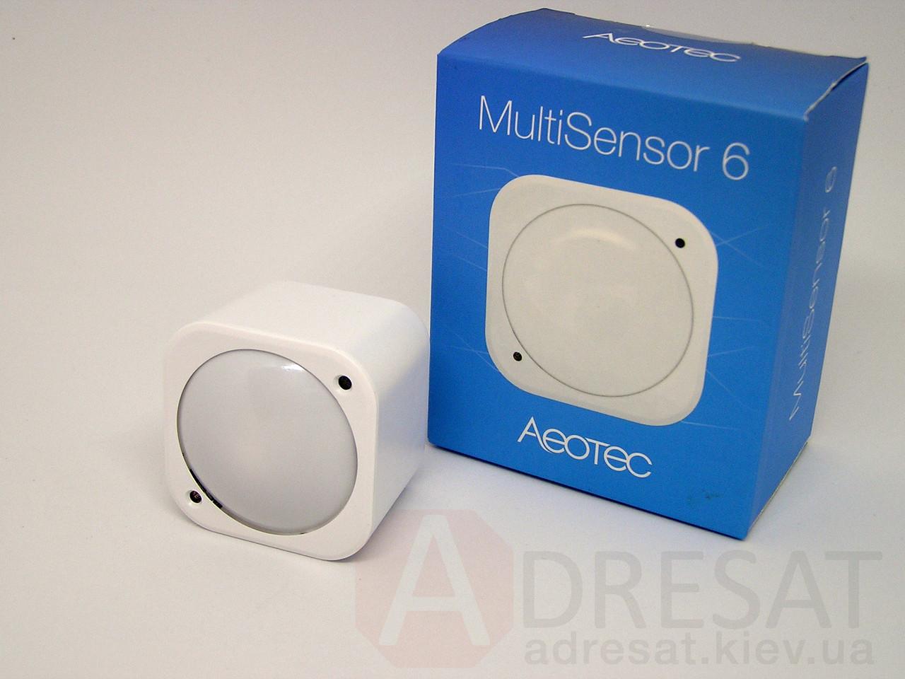 ZW100-C AEOTEC MultiSensor 6, датчик (рух, вологість, освітлення, УФ, температура, вібрація)