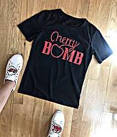 """Стильная женская футболка """"Черри""""  ТРИ ЦВЕТА"""