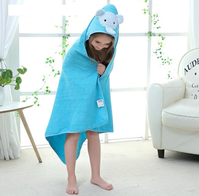Детское полотенце, покрывало голубой слон