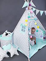 Вигвам Серая мята. Детская игровая палатка, домик