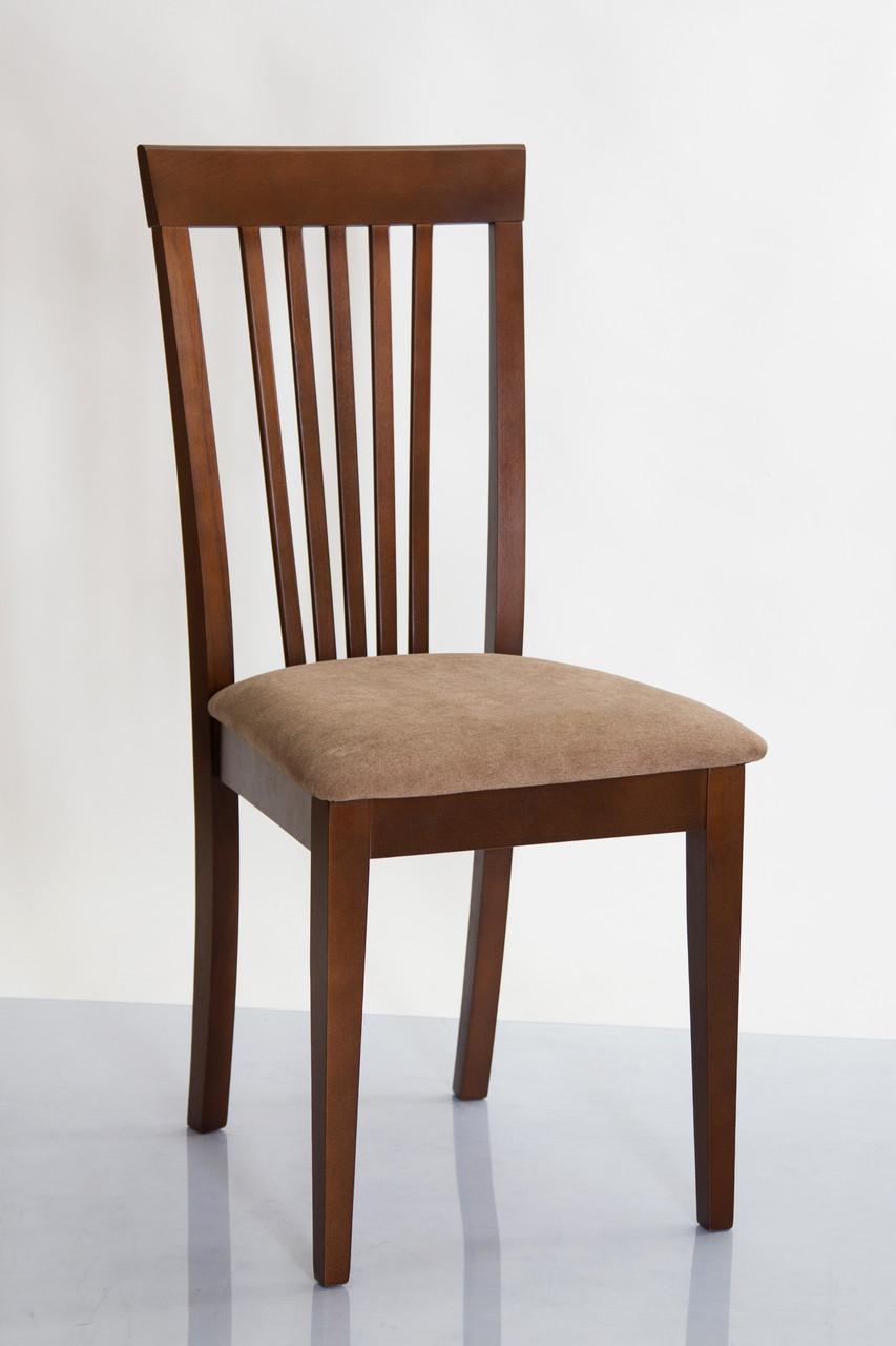 Стул разборной деревянный с мягким сиденьем Милан-Н Микс мебель, цвет орех