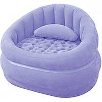 Надувное кресло Intex 68563 91 x 102 x 65 см Фиолетовое (int68563)