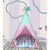 Вигвам Хатка комплект Бонбон Совы розовый с мятой