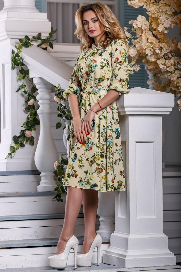 fd44e9ec2ce Летнее платье в цветочек из ткани софт Д-1441 - Lace Secret - Магазин  женского