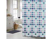"Шторка для ванной комнаты ""Мозаика"", 180*180 см,PEVA"