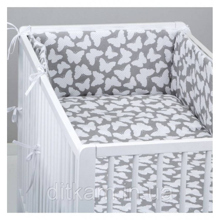 Комплект в кроватку Хатка 6 в 1 Бабочки
