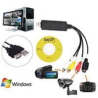 EasyCap DC-60 USB карта видеозахвата для оцифровки видео кассет VHS, miniDV