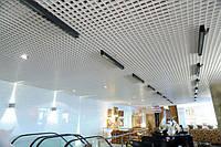 Потолок Грильято 60х60  белый оцинкованный Open-cell