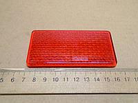 Катафот красный самоклеящийся прямоугольный 95х45мм, фото 1