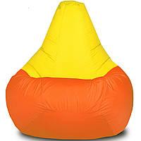 Кресло-мешок Груша Хатка детская Оранжевая с Желтым