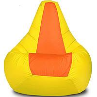 Кресло-мешок Груша Хатка детская Желтая с Оранжевым