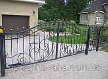 Ворота для частного дома с калиткой