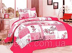 Детские покрывала хлопковое 180х220 GoldenTex JY-655 розовое.