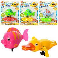 Водоплаваюча іграшка 0809 2 шт., заводний, тварини, мікс кольорів, лист, 14-19-4 см